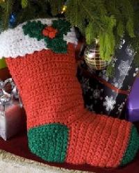 Crochet / knit Christmas Stocking <3