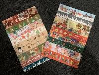 simple washi strips postcards-Christmas-USA only