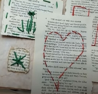 YTPC: Embroidered Book Page Pockets