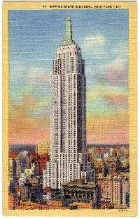 Buildings on a postcard in envelope #7