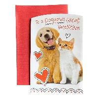2 Partner Animal Themed Valentine's Day Card - USA