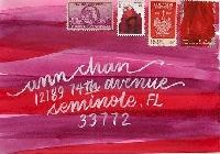 Pink & Red Valentine's Day Card & Mail Art