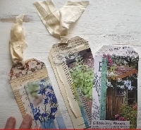 YTPC:  Collaged Flower Tags
