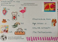 Stickers around the world postcard #9
