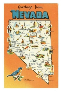 Map postcard from my state #1