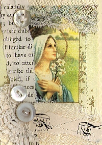 AACG:  ATC with Buttons & Lace