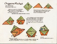 ESO: Decorated origami pocket envelope