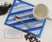 NFSC: Blue Mug Rug