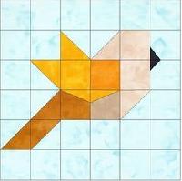 QnT Bird shaped mug rug
