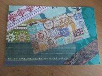 Create a Paper Scrap Postcard #4