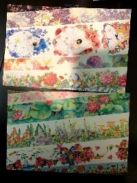 simple washi strips postcards-floral-USA