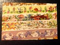 simple washi strips postcards-animal-USA