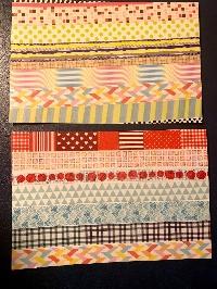 simple washi strips postcards-pattern-USA
