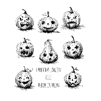 Halloween Rubber Stamp Images