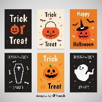 5 Partner Halloween Card/Flat Surprise Swap  USA
