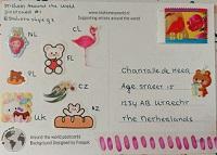 Stickers around the world postcard #17