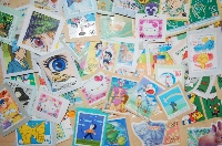 ♡ Used postage stamps! ♡