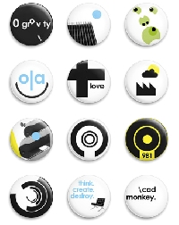 button badges all over. swap