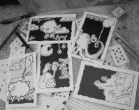 ♥Handmade Postcards #1 : Black & White♥