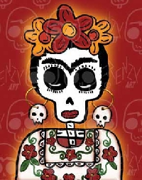 A Fabulous Frida Doll- Dia de los Muertos Style