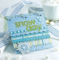 Quick Snow Day * Blue & White Flat Envie