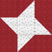 Friendship Star Quilt Block -Int'l & beginners