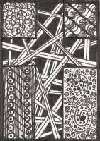 Christian Symbol Zentangle ATCs