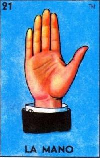 Loteria ATC LA MANO (the hand)