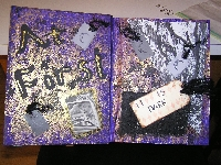 Purple Themed altered book tip-in swap