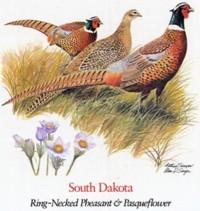 State Bird and State Flower ATC: South Dakota