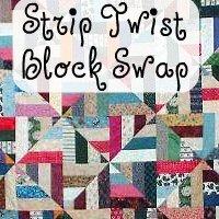 Quiltcast Member Swap - Strip Twist Blocks