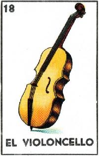 ATC Loteria ''El violoncello''(the cello)