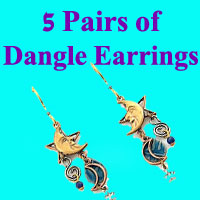 Dangle Earrings- 5 pair