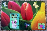 Calendar handmade postcard