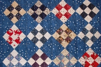 Nine patch quilt blocks for a doll quilt