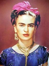 Funky Frida Pendant- Handmade
