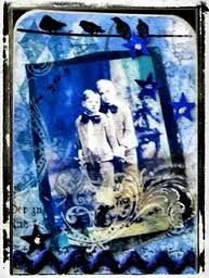 Colour Themed ATC #5- Blue