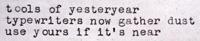 Typewriter Letter - November 2011
