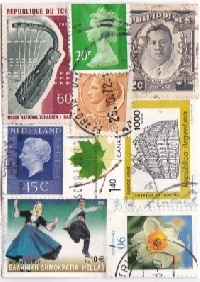 Postage Stamp ATC