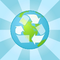 Profile package of used/recycled items
