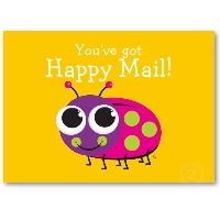 1 Stamp Happy Mail- USA