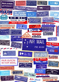 Airmail labels 7